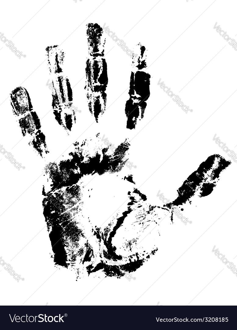 Handprint 01 vector | Price: 1 Credit (USD $1)