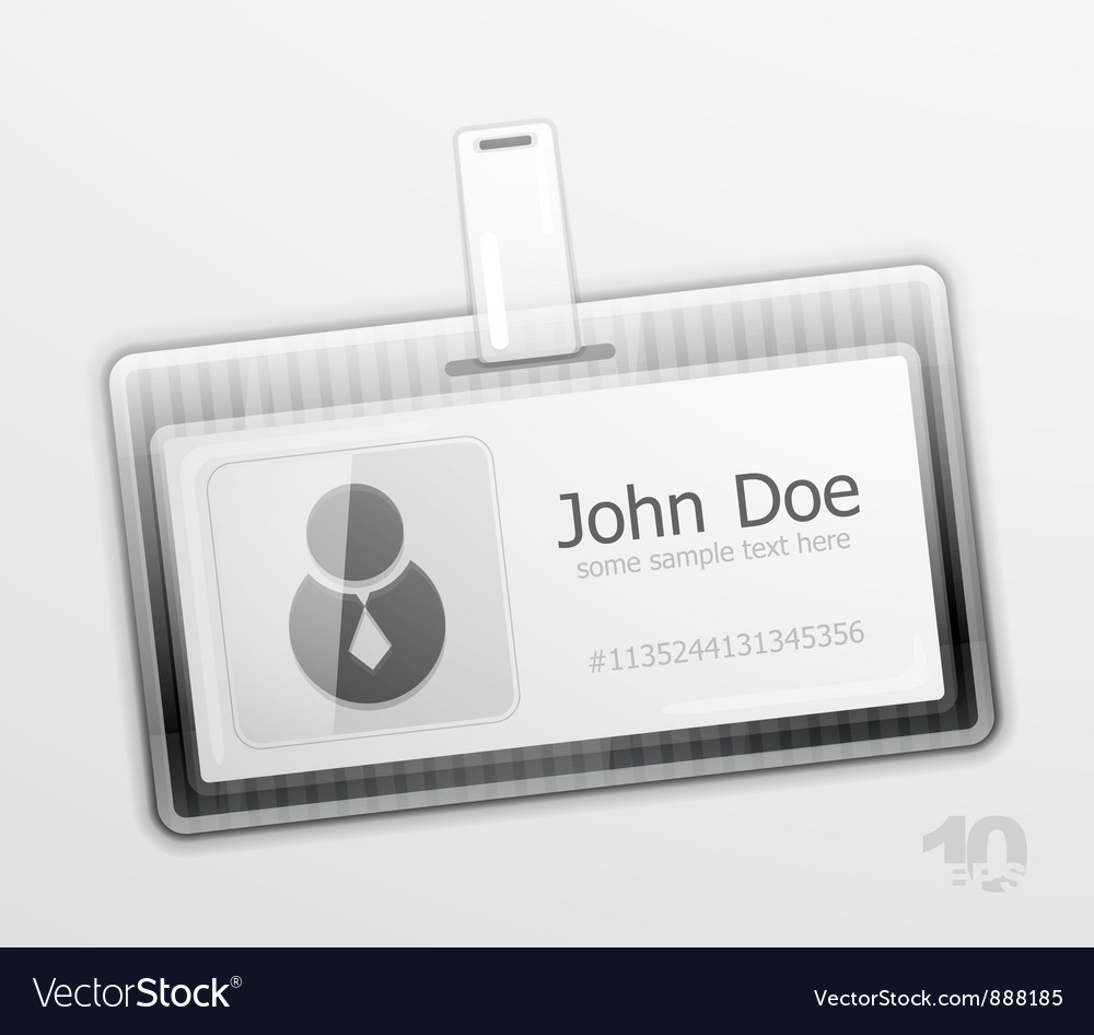 Identification badge vector | Price: 1 Credit (USD $1)