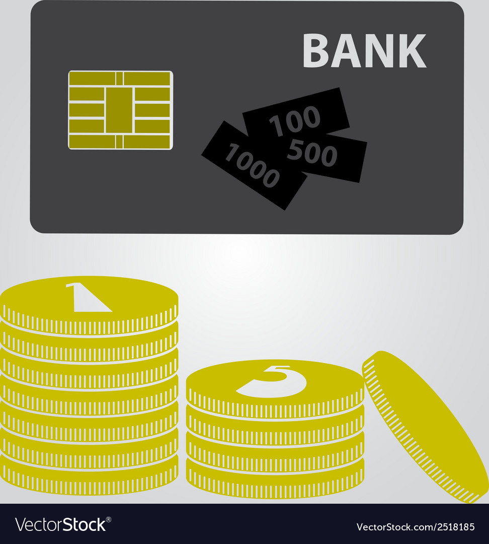 Means of payment - money and card eps10 vector | Price: 1 Credit (USD $1)