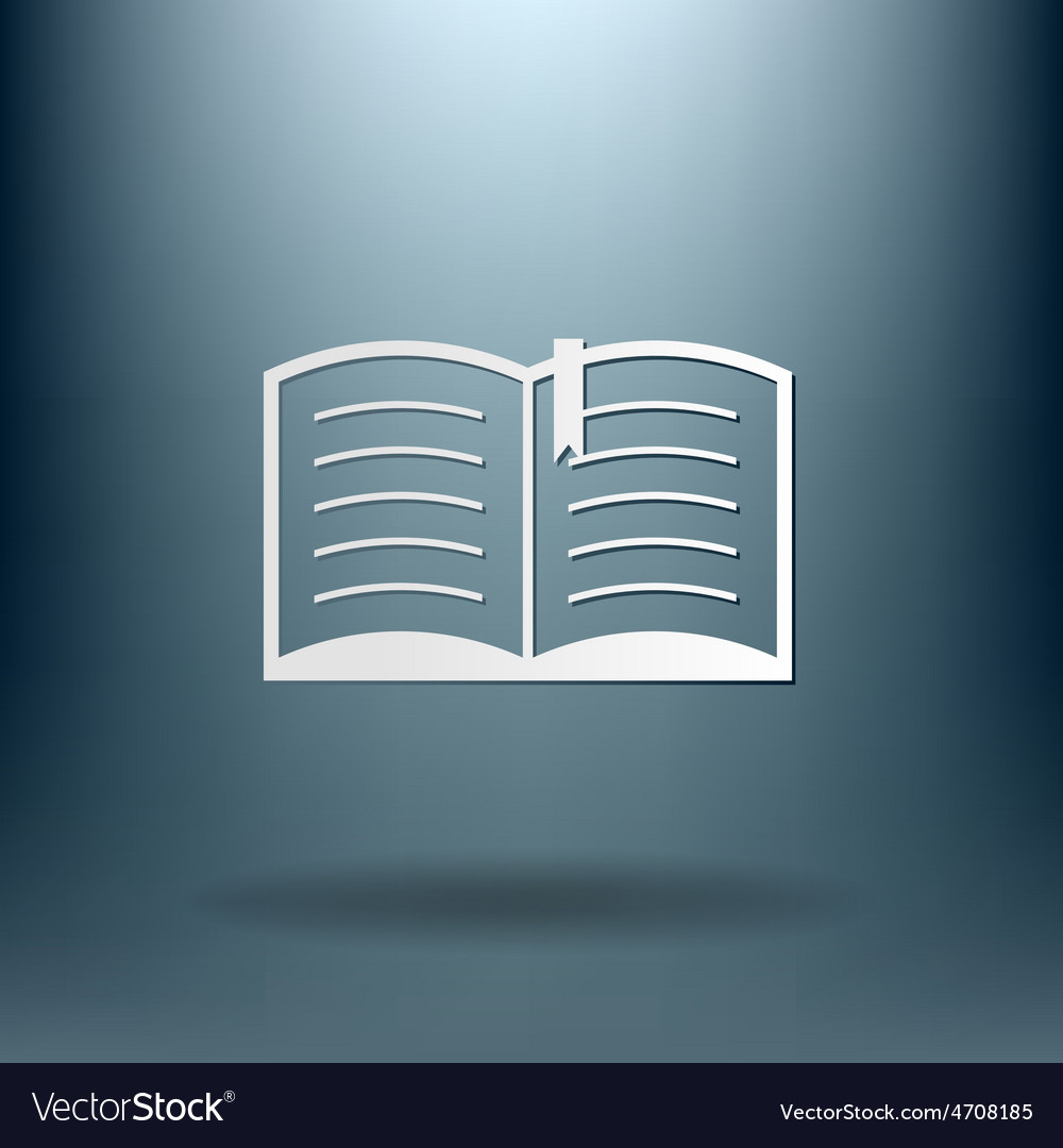 Open book education sign symbol icon book with a vector   Price: 1 Credit (USD $1)