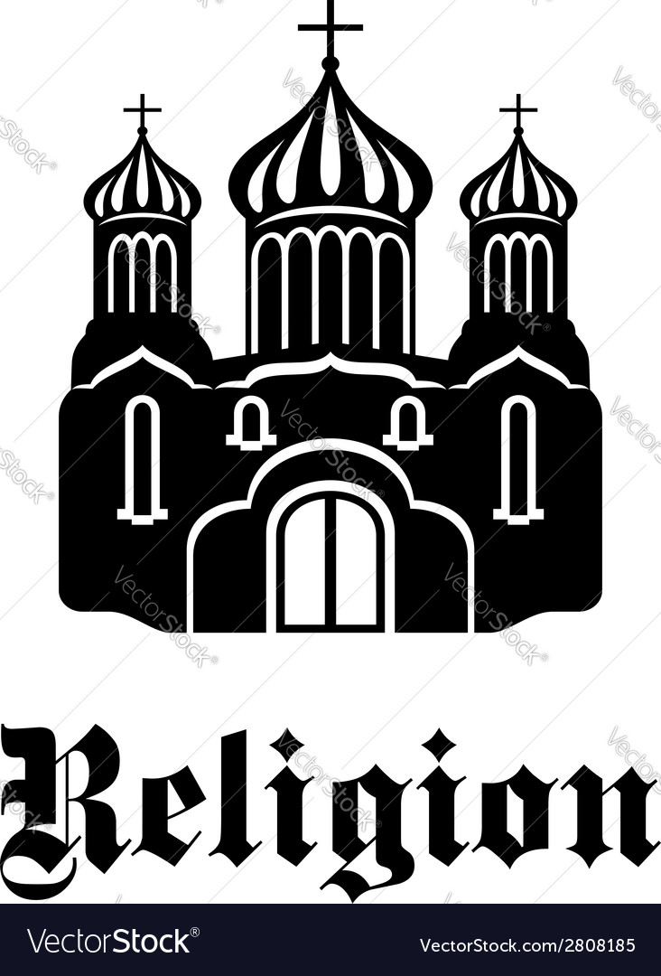 Religious temple or church icon vector | Price: 1 Credit (USD $1)