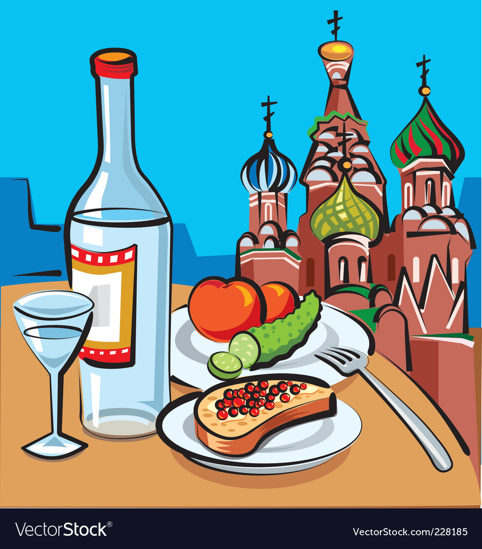 Russian vodka vector | Price: 3 Credit (USD $3)