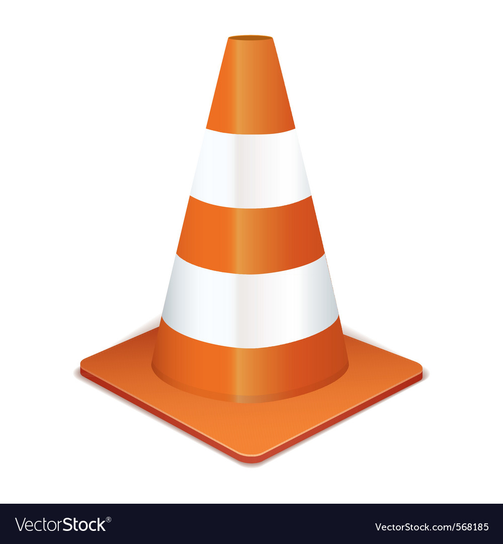 Traffic cone vector | Price: 1 Credit (USD $1)
