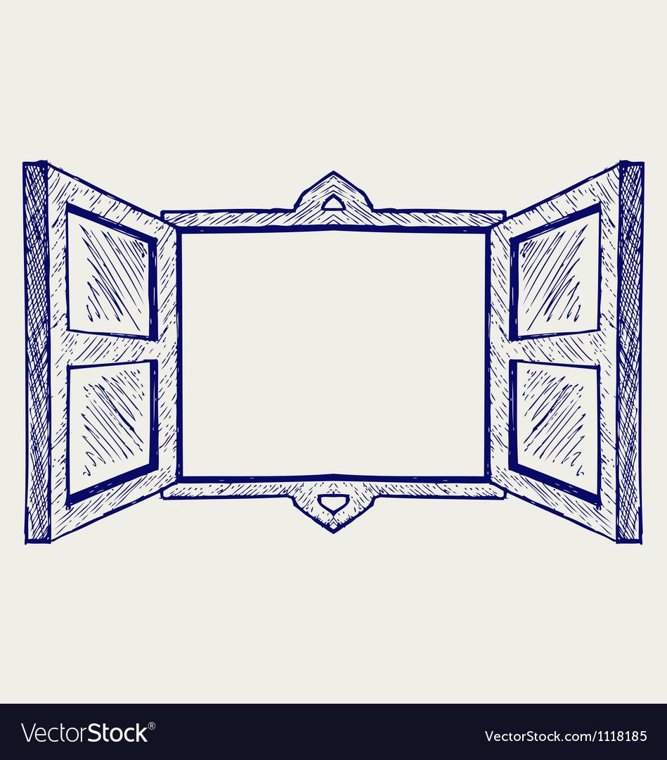 Wooden window vector | Price: 1 Credit (USD $1)