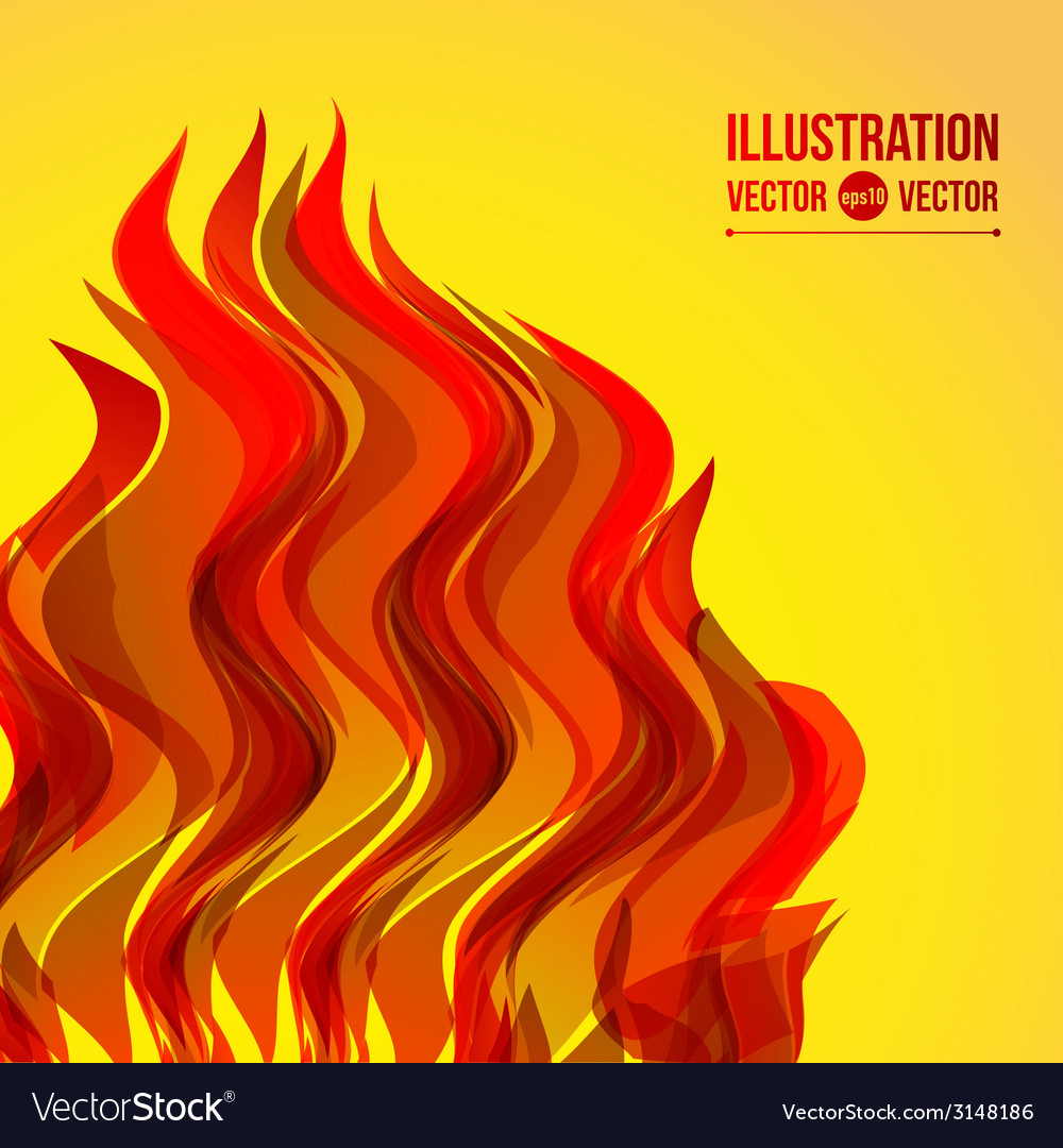 Abstract wave fire vector | Price: 1 Credit (USD $1)