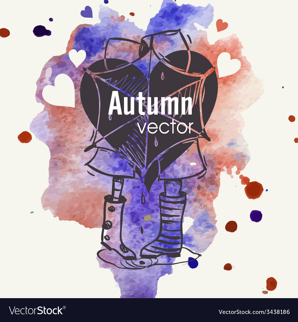Autumn season concept vector | Price: 1 Credit (USD $1)