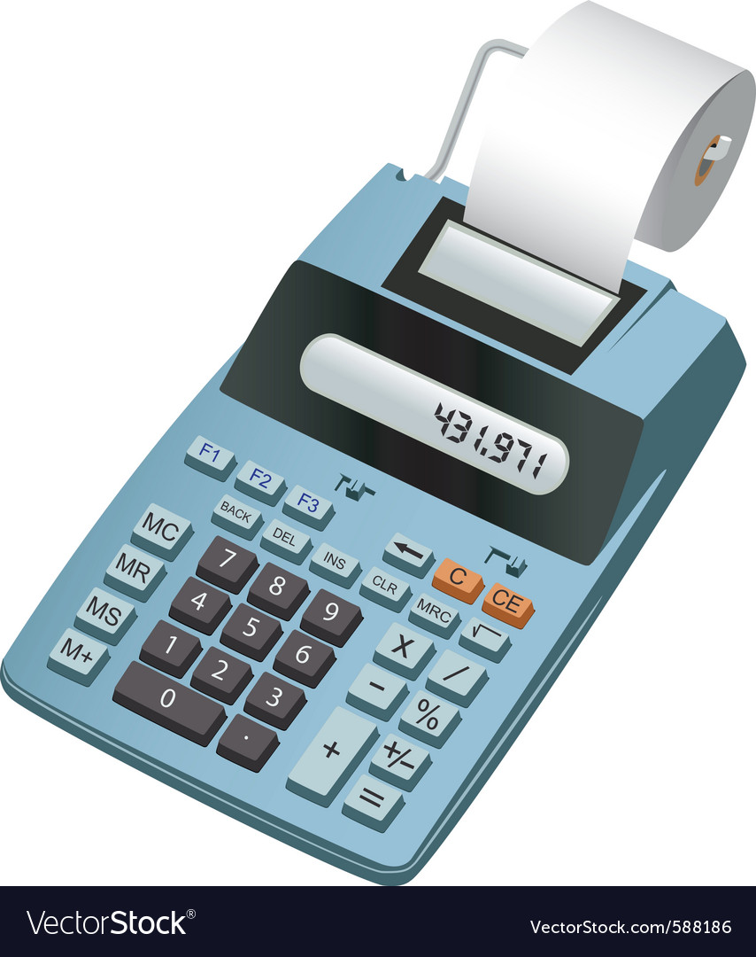 Electronic calculator vector | Price: 3 Credit (USD $3)