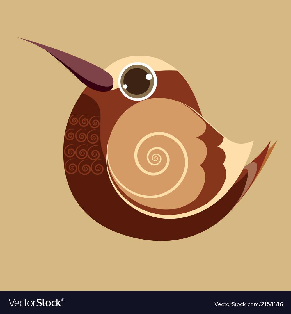 Hummingbird finger bird cute abstract prehistoric vector | Price: 1 Credit (USD $1)