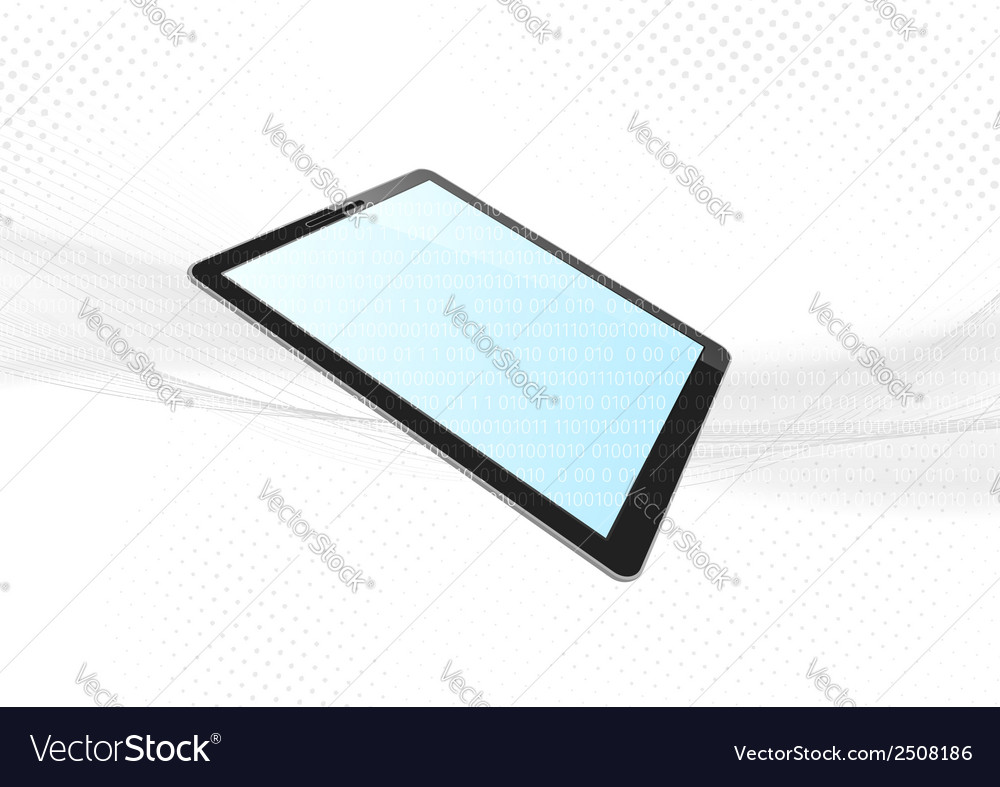 Modern tablet device electronic background vector | Price: 1 Credit (USD $1)