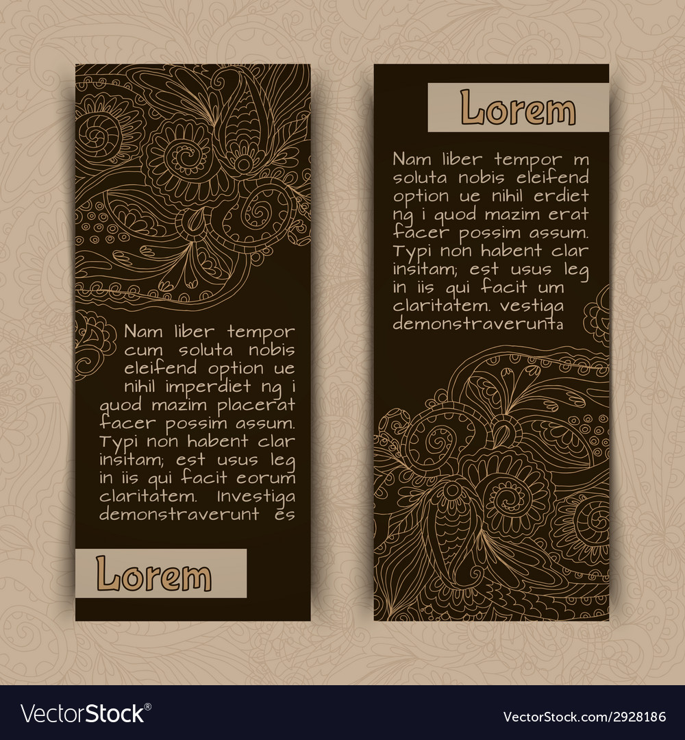 Ornamental banners vertical vector | Price: 1 Credit (USD $1)