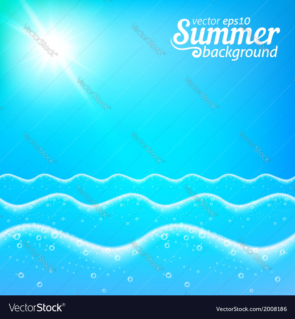 Seascape seamless line background vector | Price: 1 Credit (USD $1)