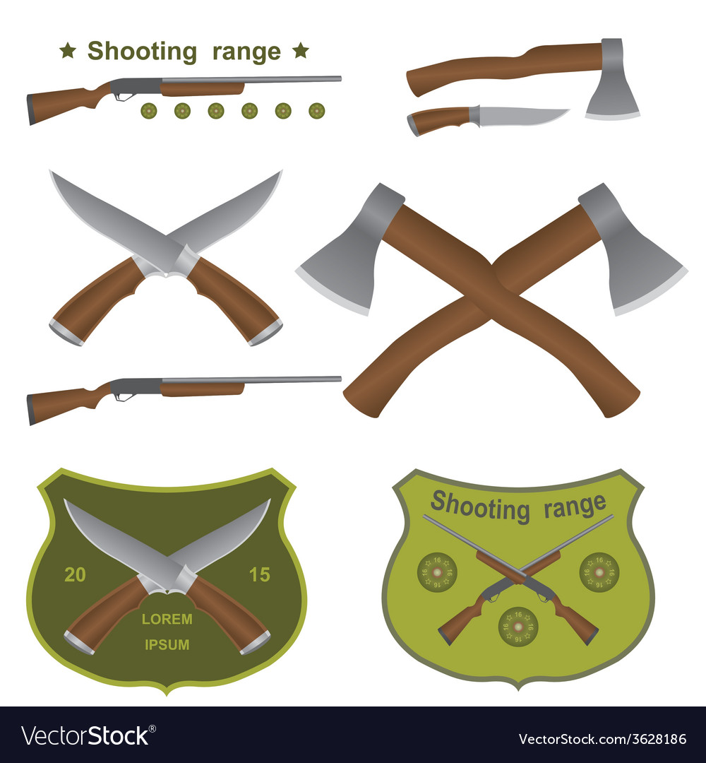 Set of different kinds of weapons vector | Price: 1 Credit (USD $1)