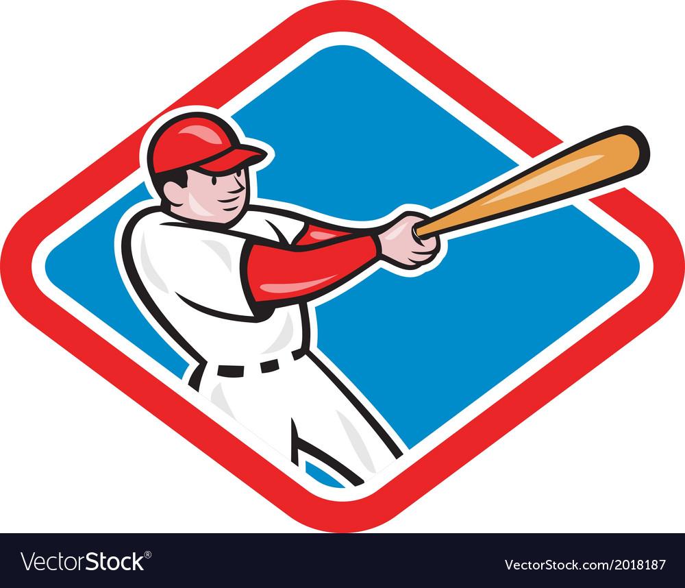 Baseball player batting cartoon vector | Price: 1 Credit (USD $1)