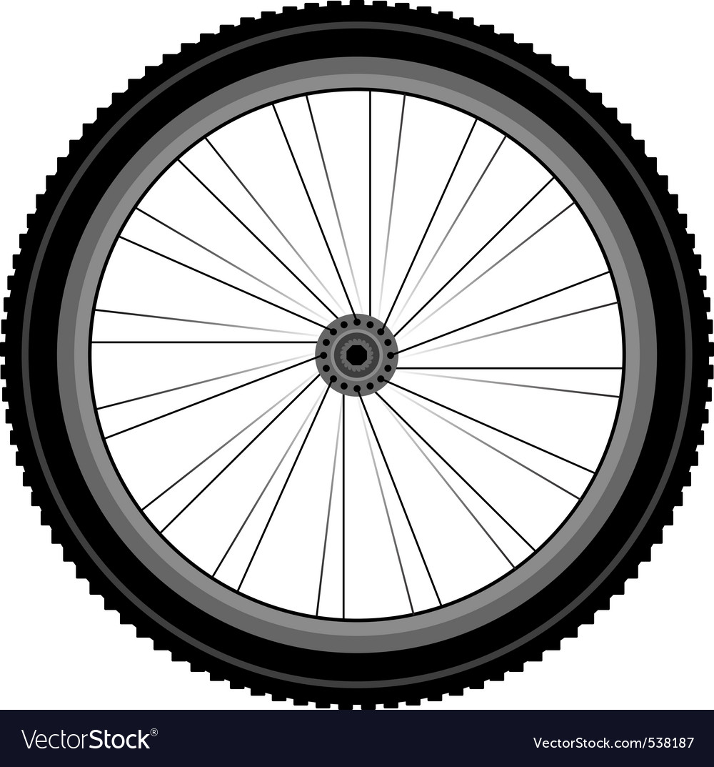 Bike wheel vector | Price: 1 Credit (USD $1)