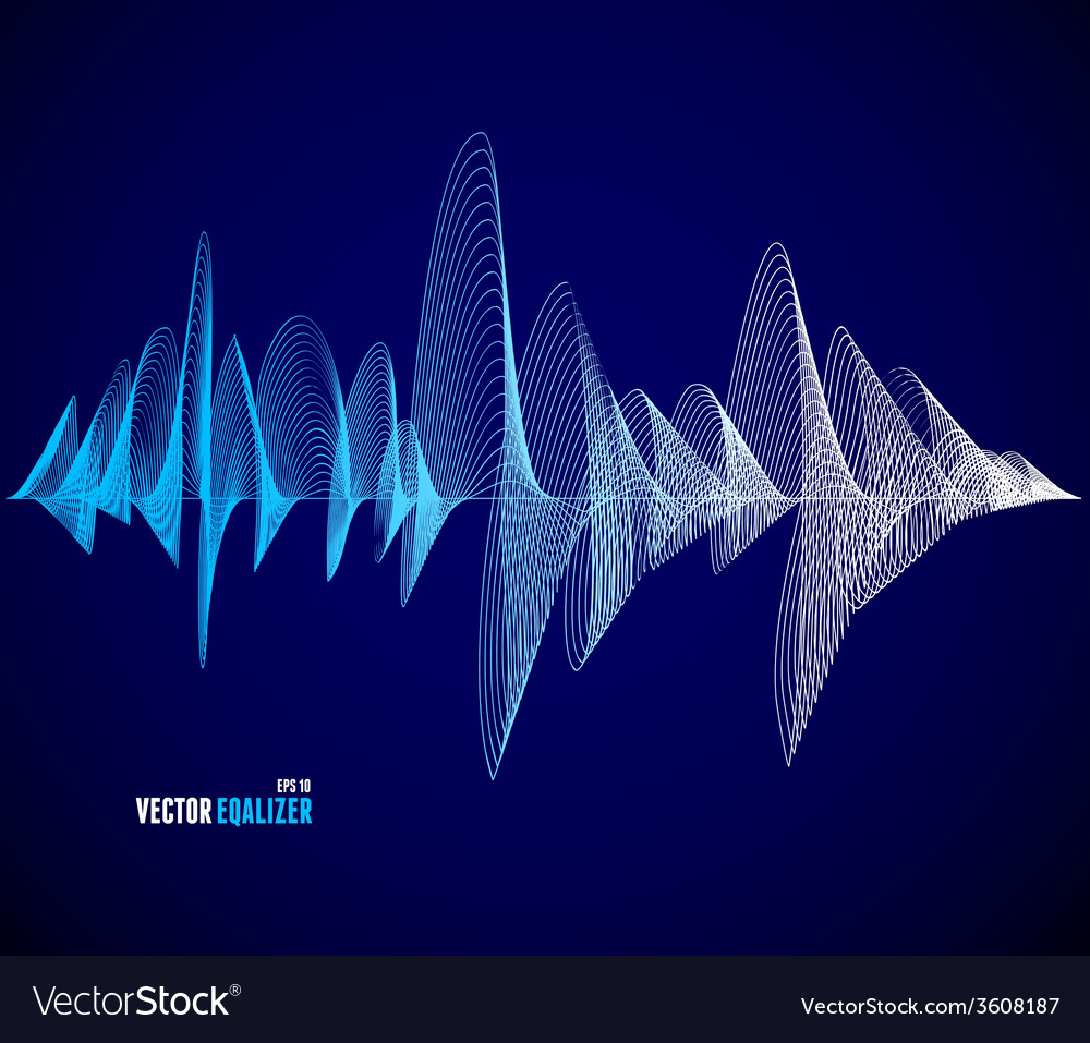 Equalizer musical bar dark background vector | Price: 1 Credit (USD $1)