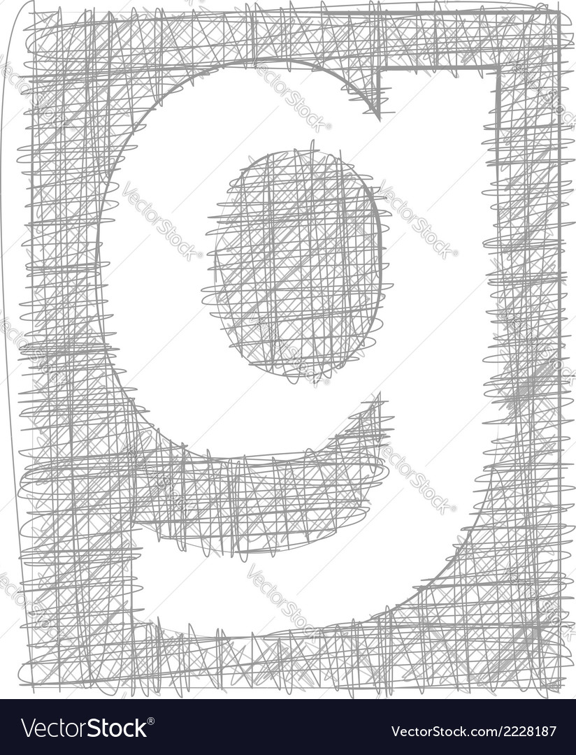 Freehand typography letter g vector | Price: 1 Credit (USD $1)