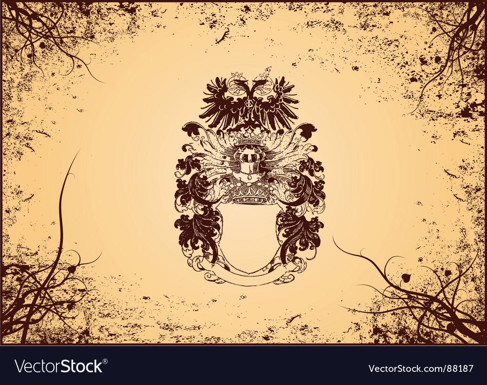 Grunge shield vector | Price: 1 Credit (USD $1)