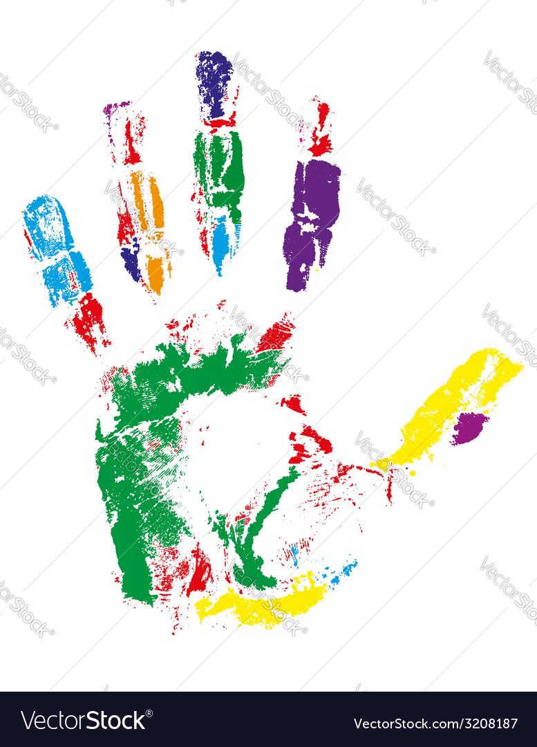 Handprint 02 vector | Price: 1 Credit (USD $1)