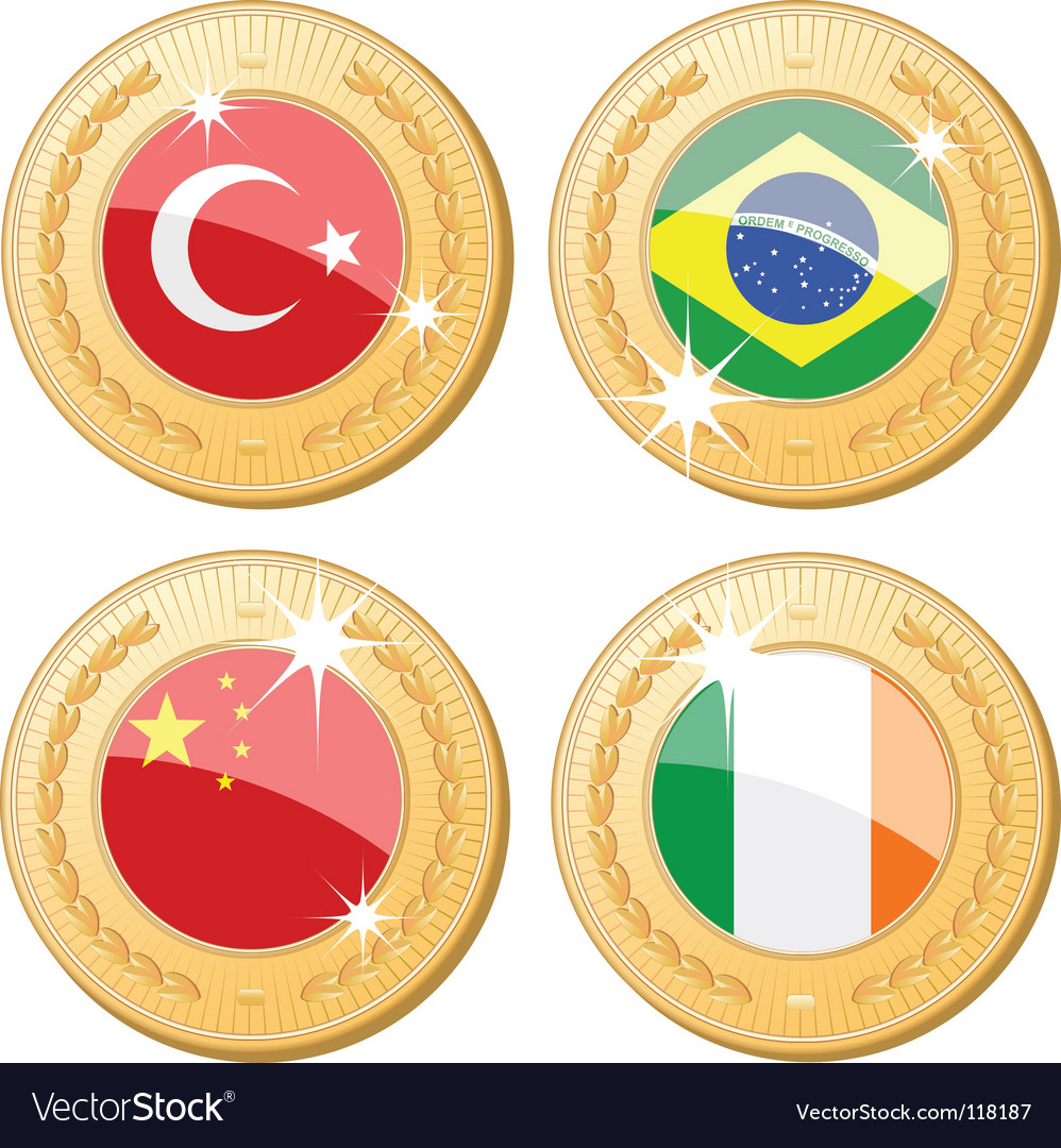 Medals of the world vector | Price: 1 Credit (USD $1)