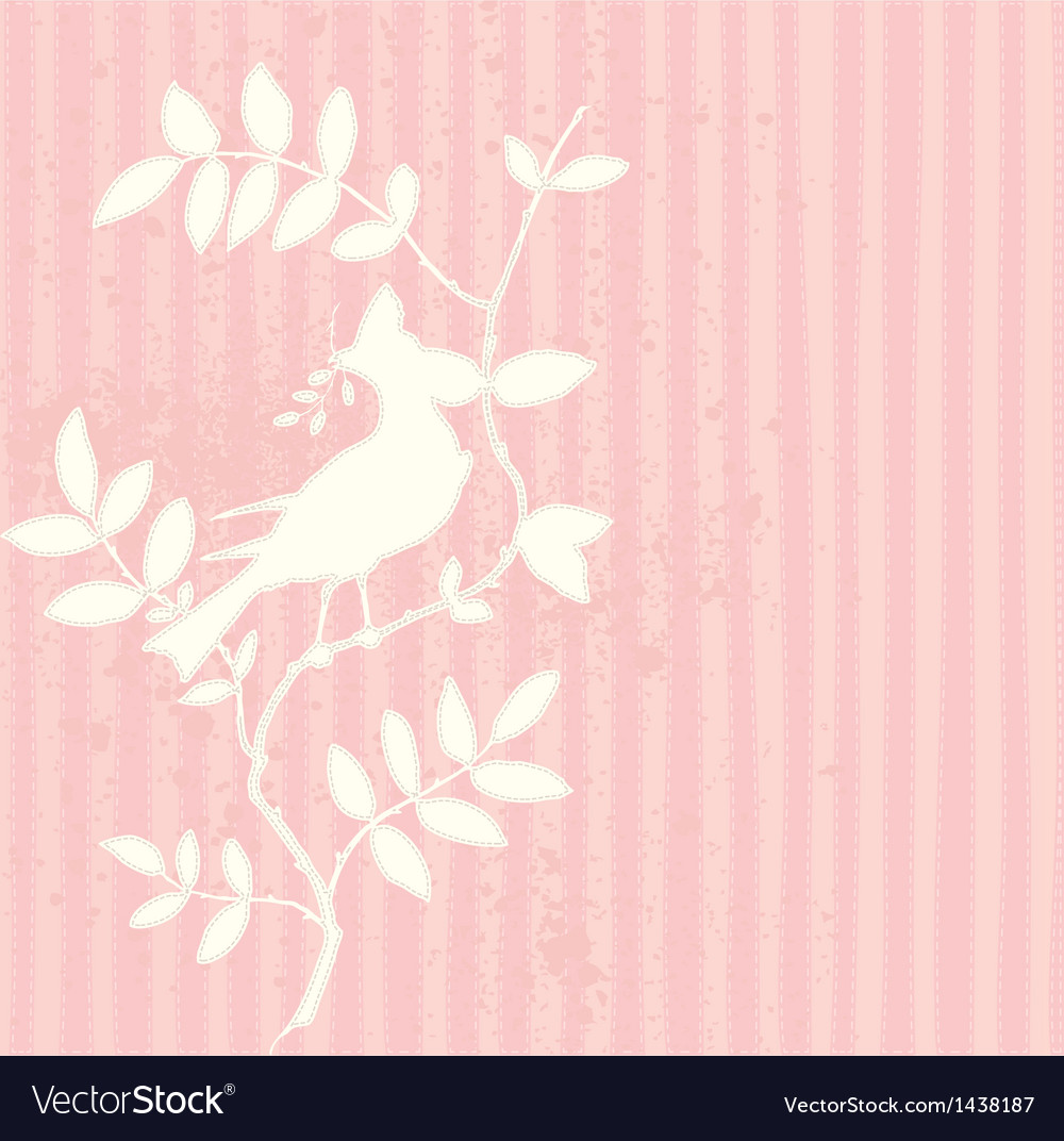 Pink bird vector | Price: 1 Credit (USD $1)