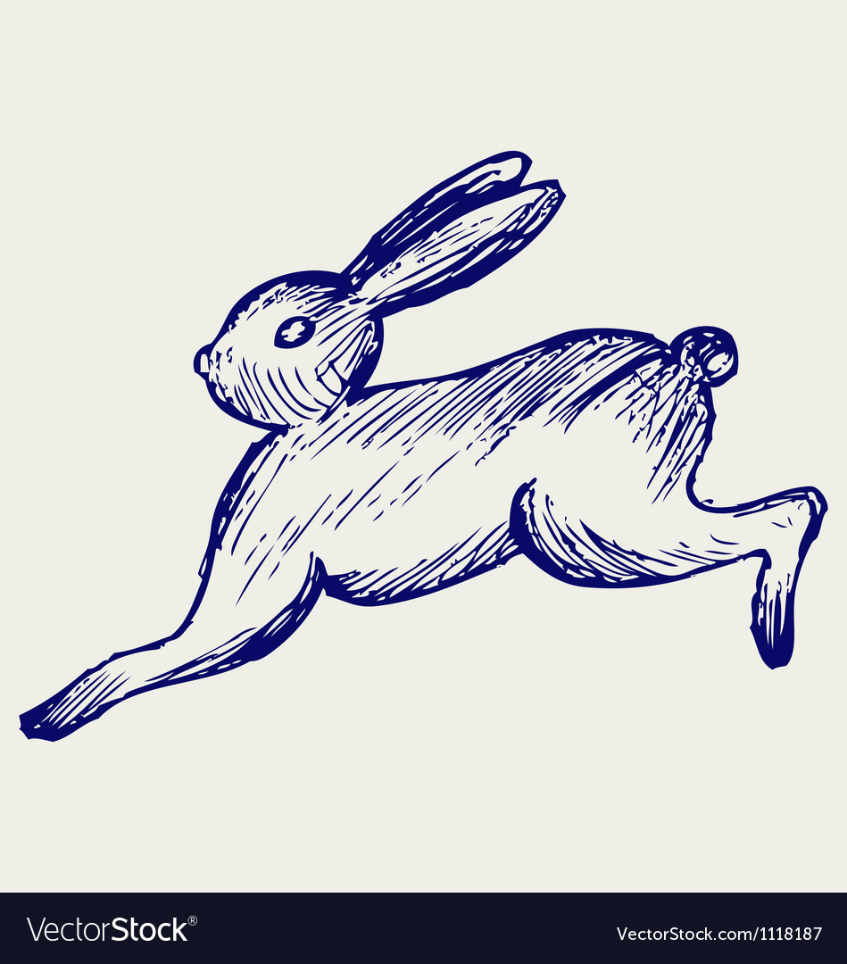 Running hare vector | Price: 1 Credit (USD $1)