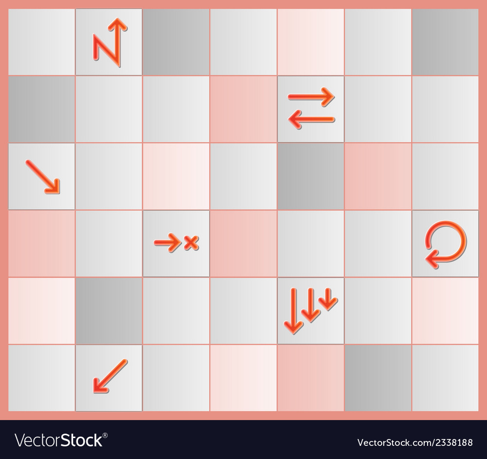 Board with different tiles and arrows vector | Price: 1 Credit (USD $1)