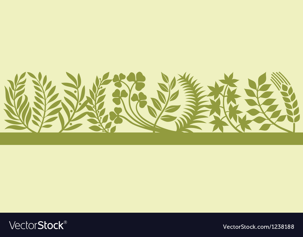 Collection of leaf silhouettes-collection leaves vector | Price: 1 Credit (USD $1)
