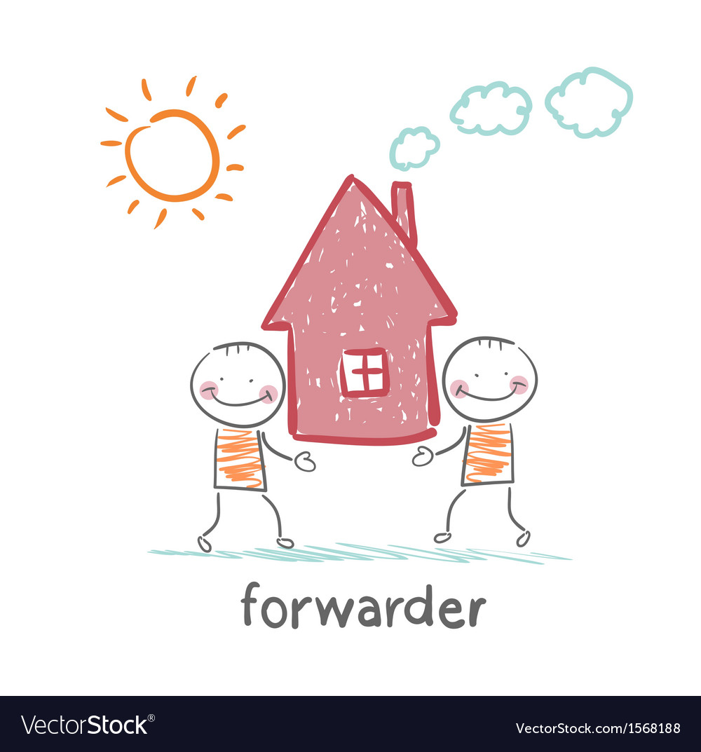 Forwarder carries a house vector | Price: 1 Credit (USD $1)