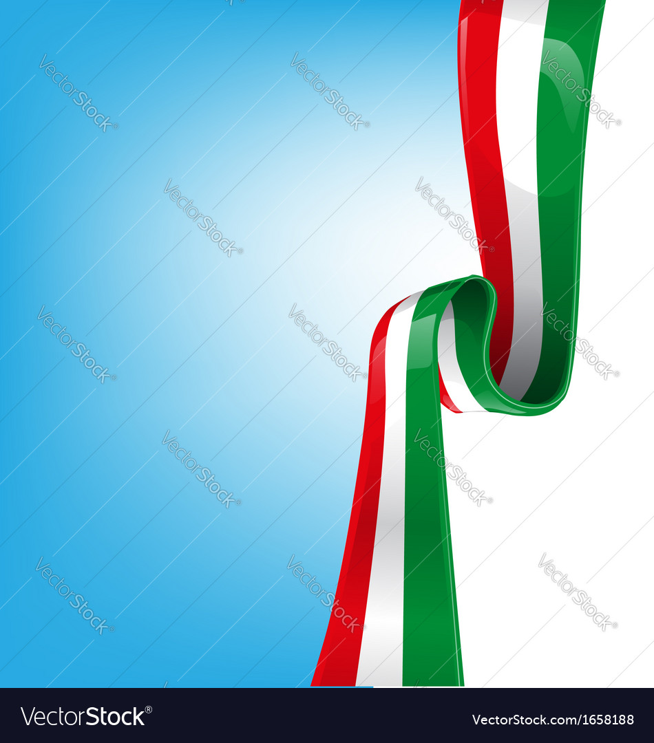 Italian ribbon flag vector | Price: 1 Credit (USD $1)