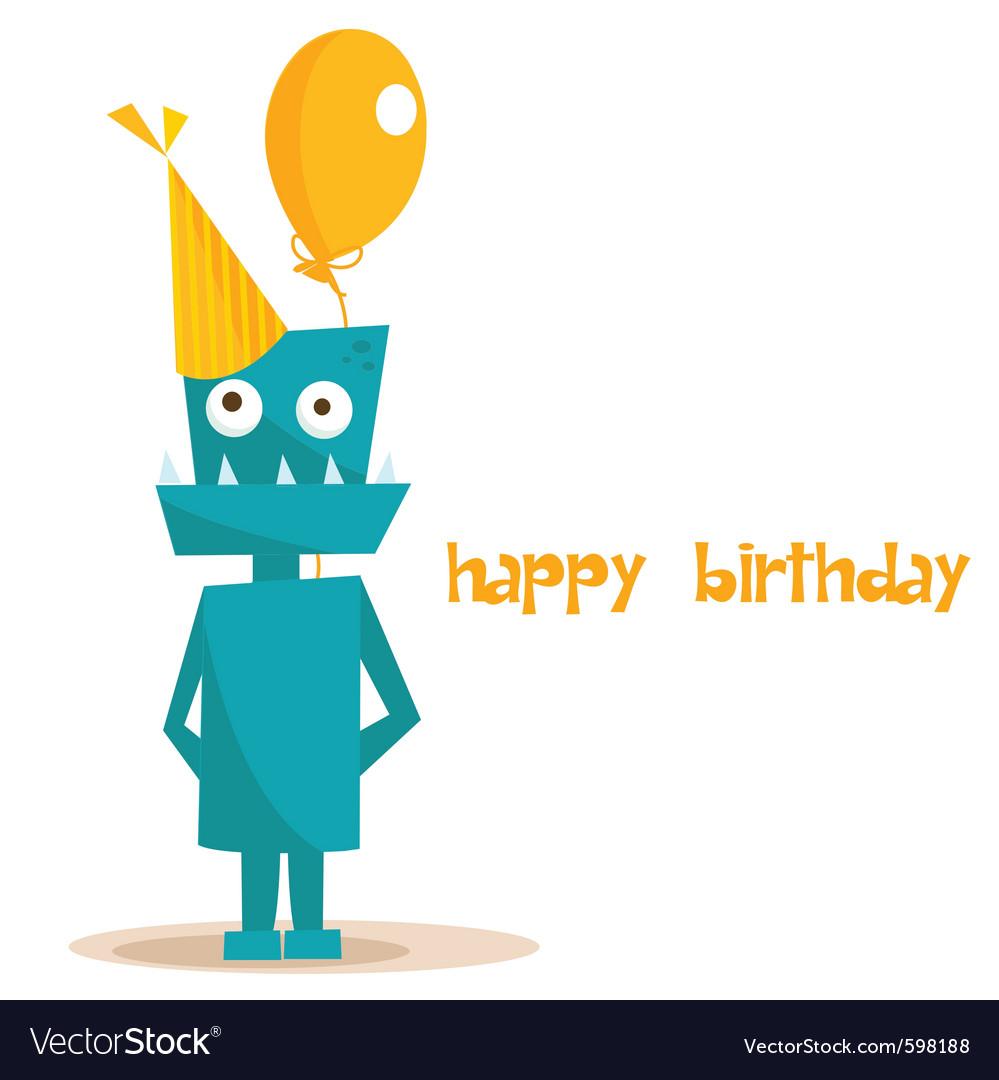Robot birthday vector | Price: 1 Credit (USD $1)