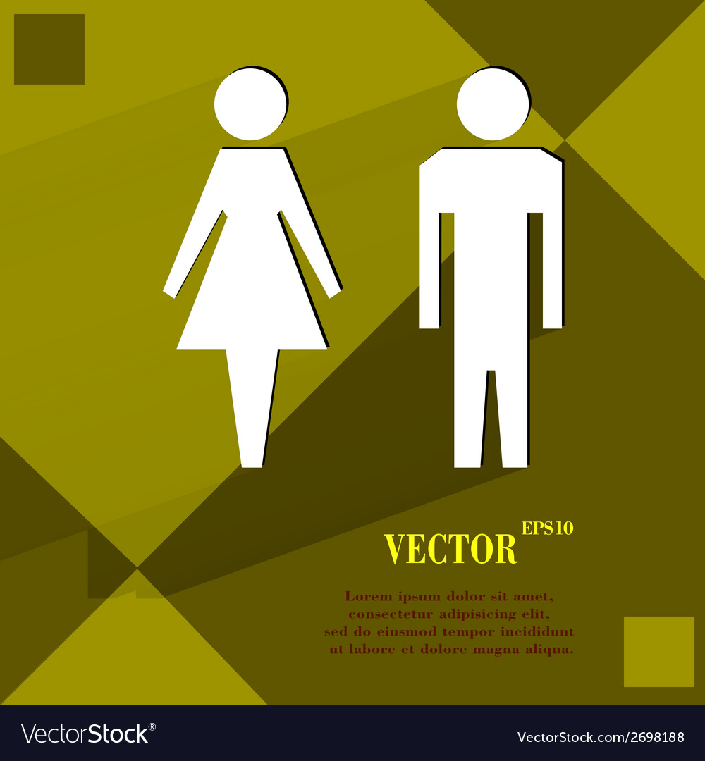 Suluet men women flat modern web design on a flat vector | Price: 1 Credit (USD $1)