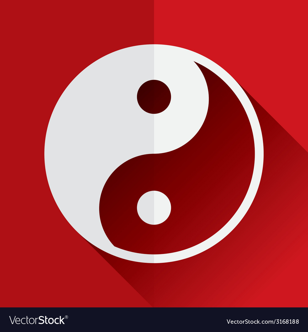 Yin yang flat icon vector | Price: 1 Credit (USD $1)