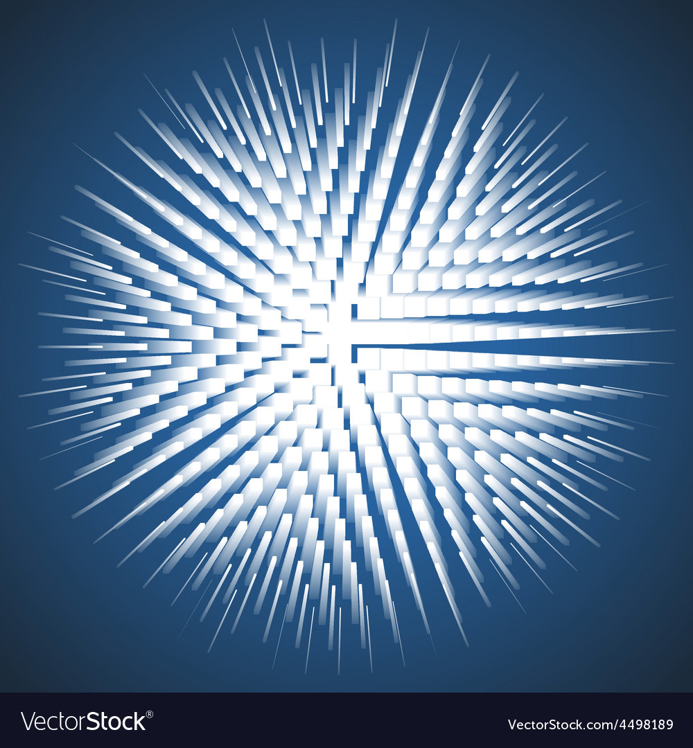 Burst on blue background vector | Price: 1 Credit (USD $1)