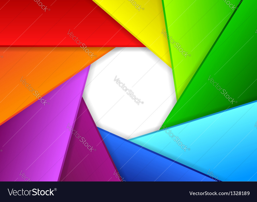 Colorful background in a shape of camera shutter vector | Price: 1 Credit (USD $1)