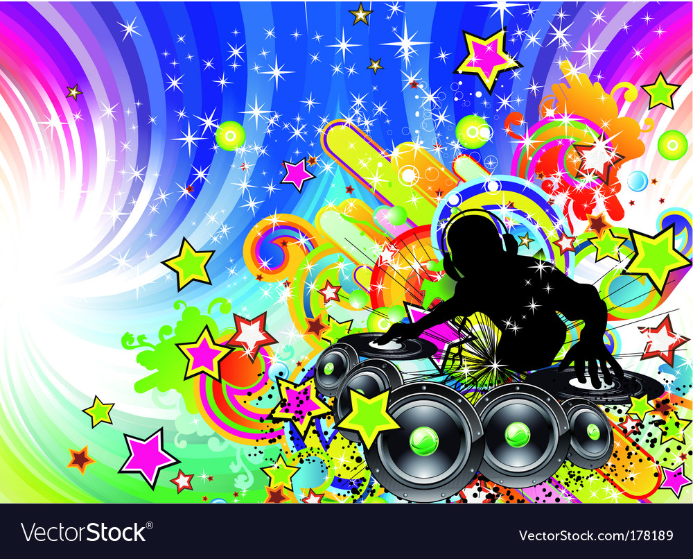 Dance party flyer vector | Price: 3 Credit (USD $3)