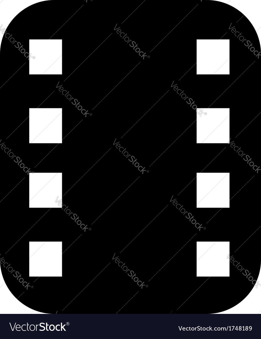 Filmstrip icon vector | Price: 1 Credit (USD $1)