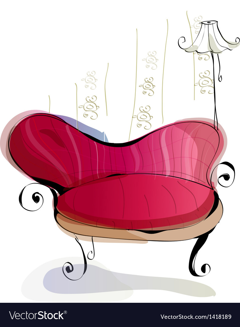 Home couch interior vector | Price: 1 Credit (USD $1)