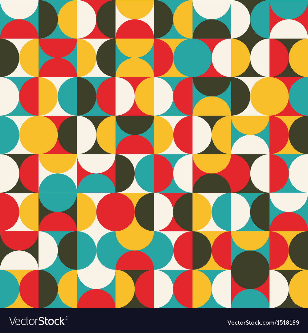 Retro seamless pattern with circles vector | Price: 1 Credit (USD $1)