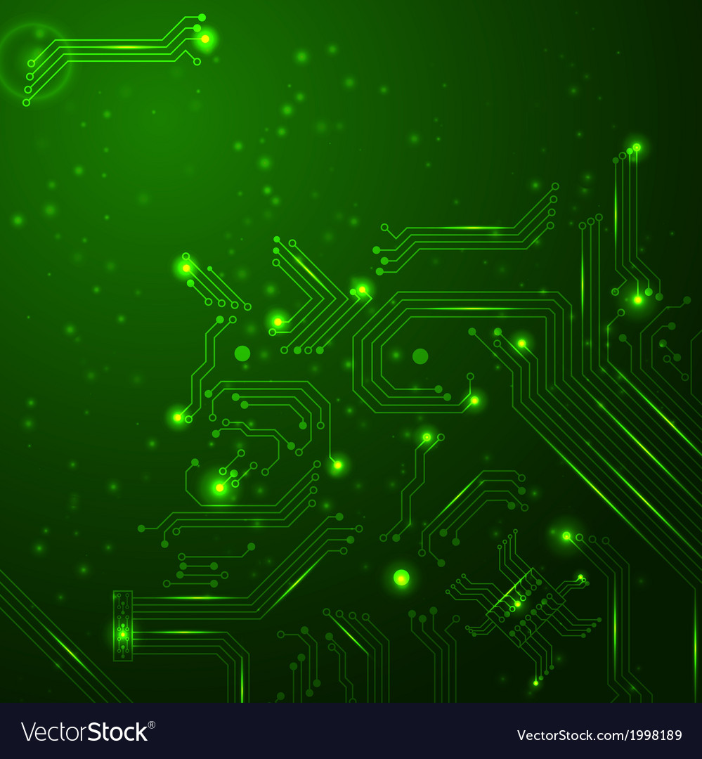 Technology background with circuit board elements vector | Price: 1 Credit (USD $1)