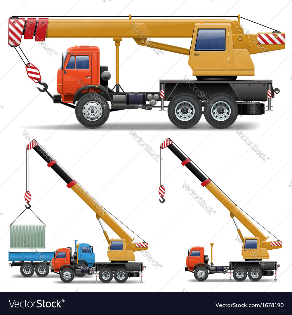 Construction machines set 5 vector | Price: 1 Credit (USD $1)