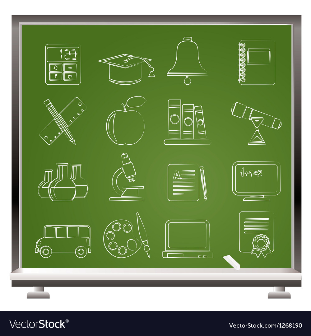 Education and school objects icons vector | Price: 1 Credit (USD $1)