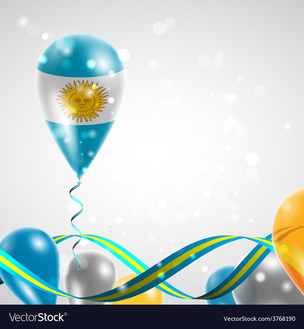 Flag of argentina on balloon vector | Price: 3 Credit (USD $3)