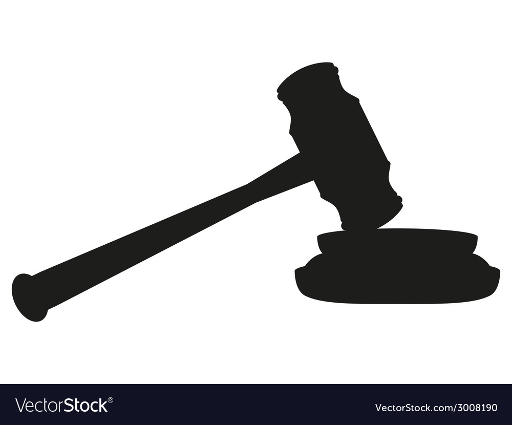 Gavel on white background vector | Price: 1 Credit (USD $1)