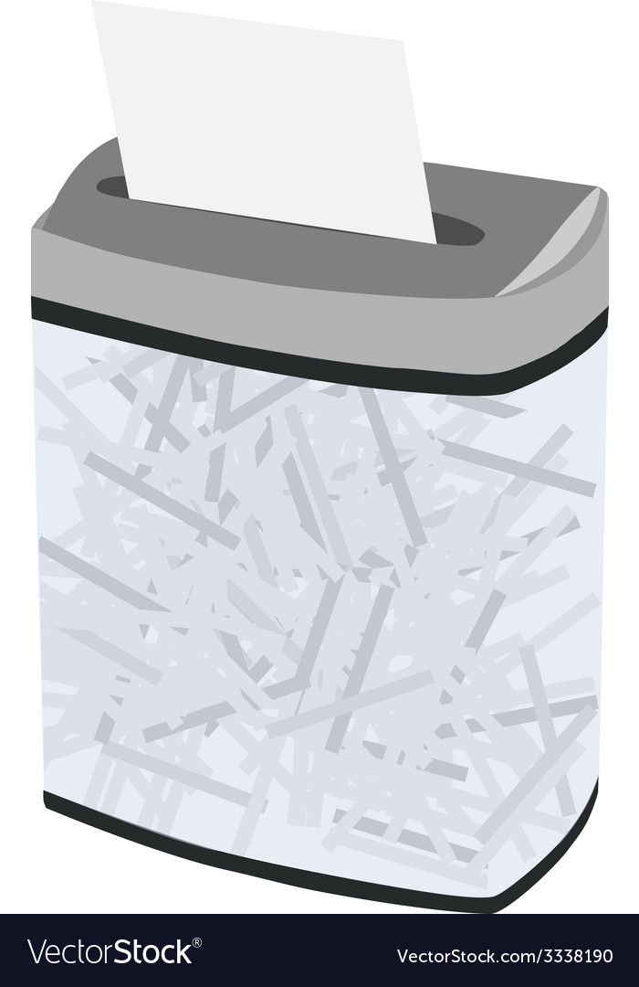 Grey full shredder vector | Price: 1 Credit (USD $1)