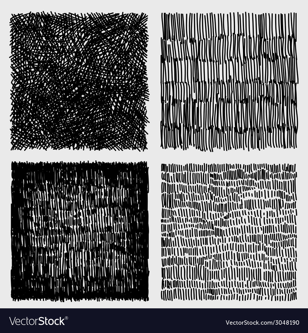 Hand drawn sketches rough hatching grunge texture vector | Price: 1 Credit (USD $1)