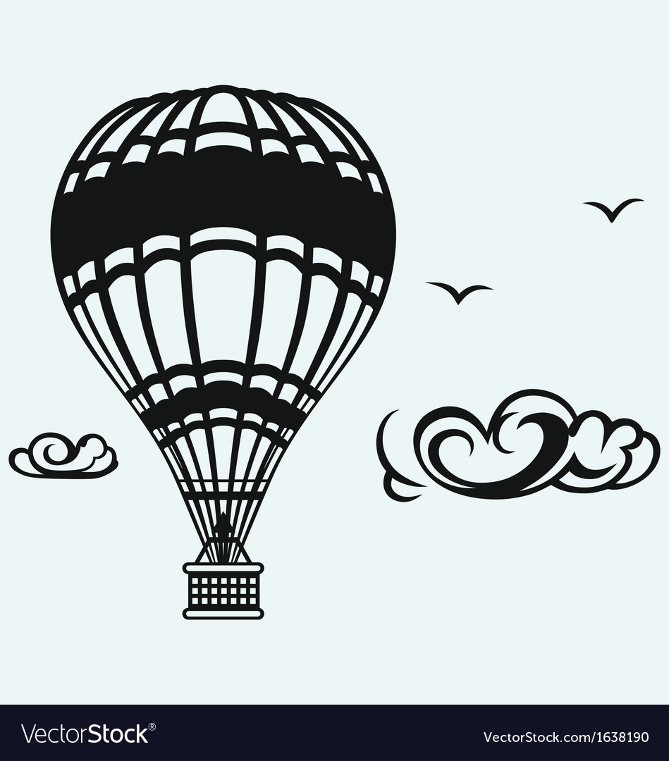 Hot air balloon in the sky vector | Price: 1 Credit (USD $1)