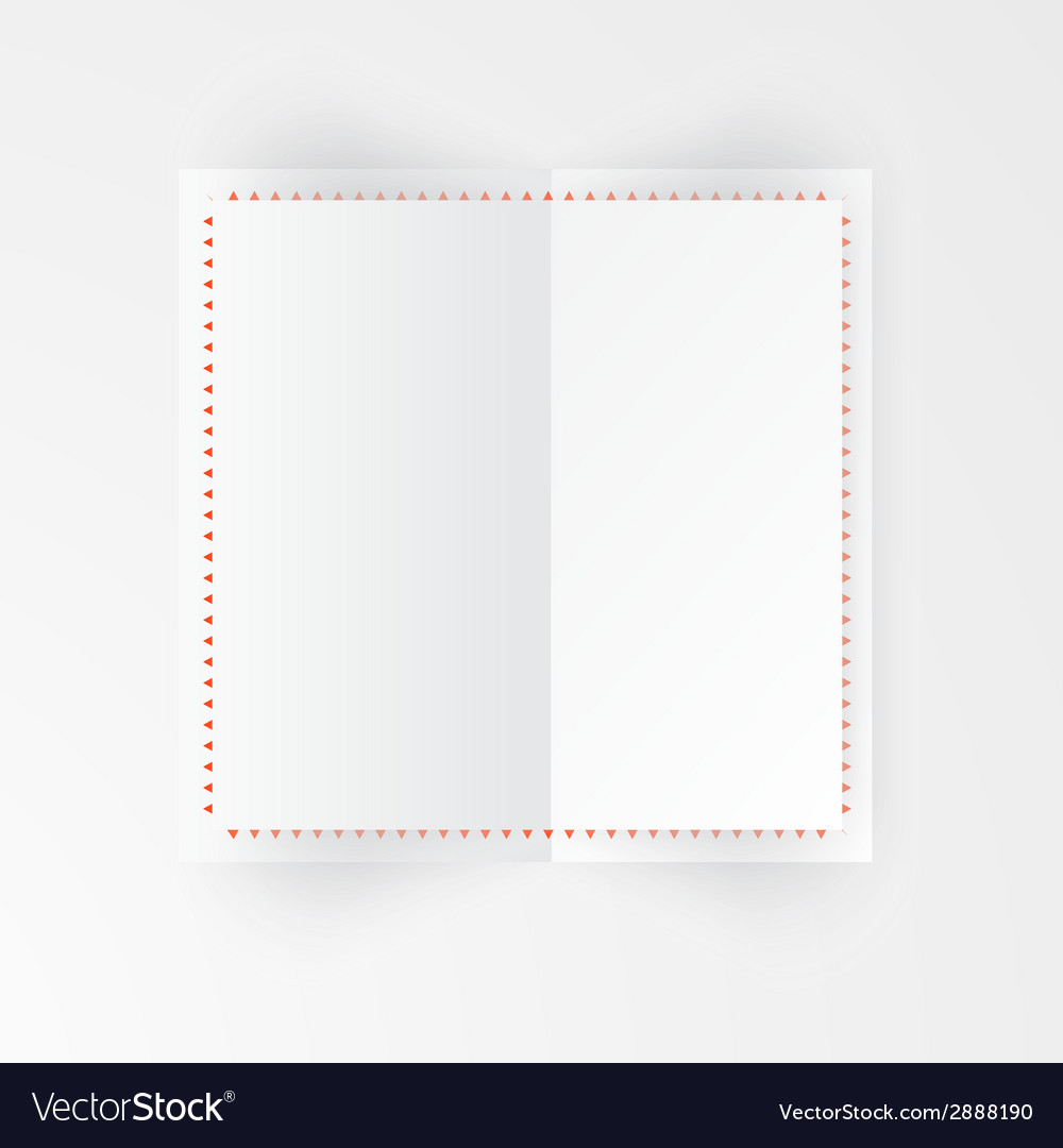 Paper template banner white vector | Price: 1 Credit (USD $1)