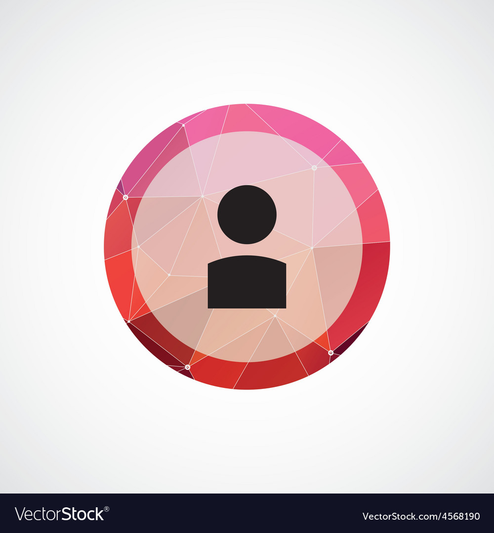 Profile circle pink triangle background icon vector | Price: 1 Credit (USD $1)
