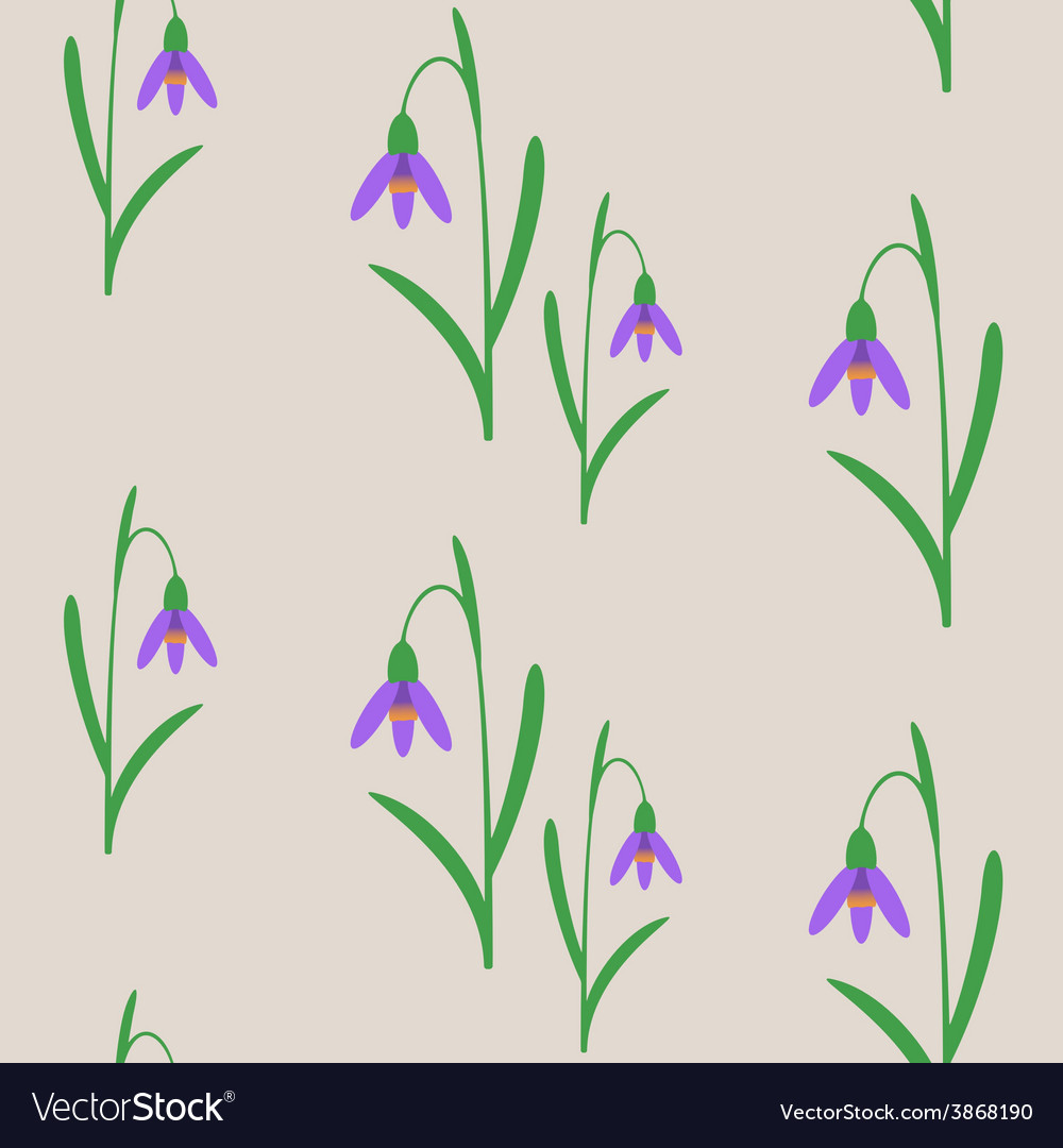 Seamless background with snowdrops vector | Price: 1 Credit (USD $1)