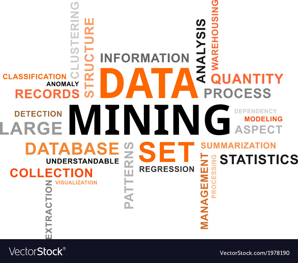 Word cloud data mining vector | Price: 1 Credit (USD $1)